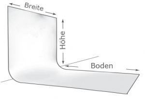 Wie bestimmen Sie die perfekte Größe der Limbowand® Hohlkehle?